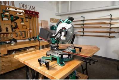 12 inch miter saw at workshop